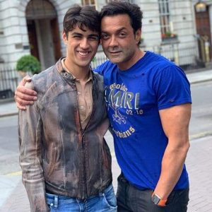 Aryaman Deol and his Father Bobby deol